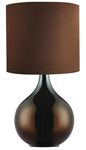 Searchlight table lamp chocolate brown base drum shade amazon searchlight table lamp chocolate brown base drum shade aloadofball Choice Image