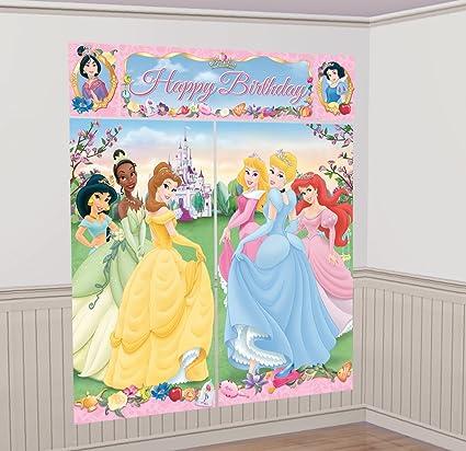 Amazon.com: Amscan – Decoración Mural, diseño de princesas ...