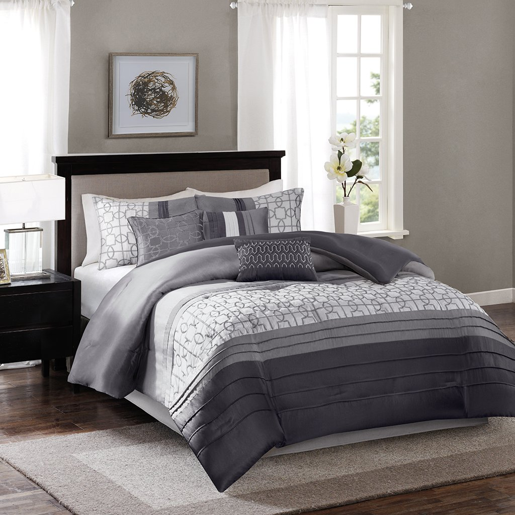 Amazoncom Madison Park MP102470 Bradford 7 Piece Comforter Set