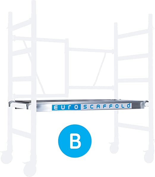 75 Zentimeter breit 3 Meter Arbeitsh/öhe Grundger/üst hohe Qualit/ät. 4 gebremste R/äder ALX FS 75 Basic Ger/üst Aluminium N-EN 1004 T/ÜV-Zertifikat