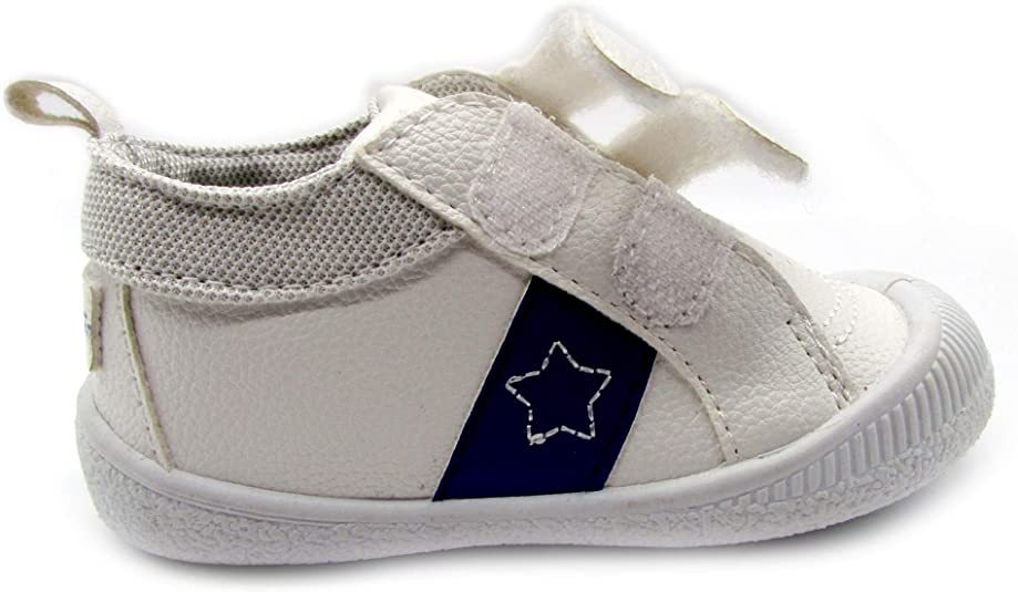 3 M US Infant White Gerber Baby Boys Early Walker Double Strap Sneakers