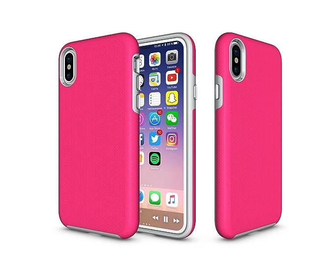 timeless design 7e0ea fcf34 Amazon.com: iPhone X Case, KiKi Armor Apple x case,Silicone+PC ...