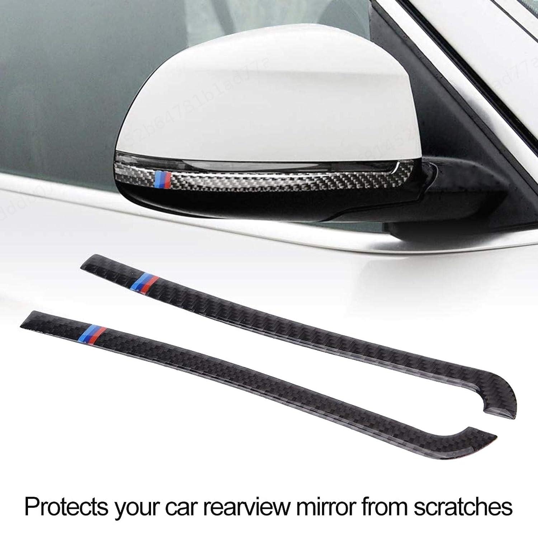 DULALA 2pcs Auto Anti-sfregamento Strisce in Fibra di Carbonio specchietto retrovisore Proteggi Strisce per X5 F15 2014-2018
