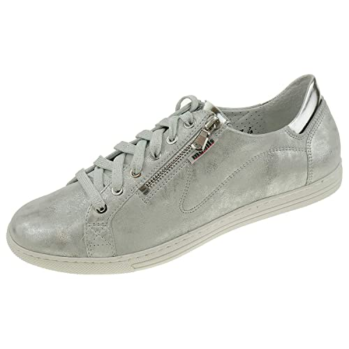 a19aae97c3 Mobils Ergonomic by Mephisto Women's Lace-Up Flats Silver Silver 8 UK  Silver Size: