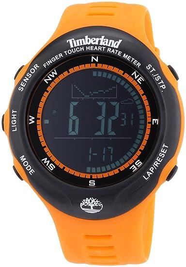 Timberland TBL.13386JPOB/02 - Reloj digital de cuarzo para hombre con correa de plástico, color naranja: Amazon.es: Relojes