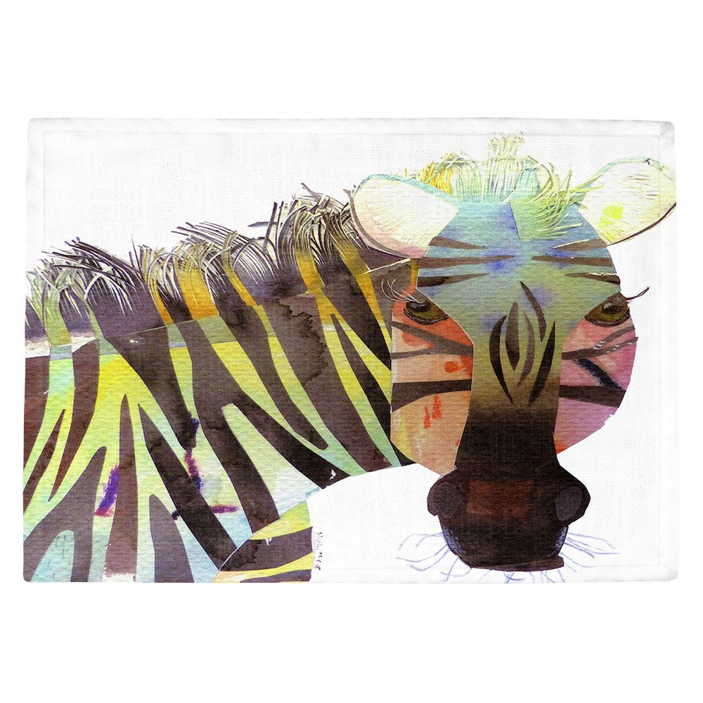DIANOCHEキッチンPlaceマットby Marley Ungaro – Zebra Set of 4 Placemats PM-MarleyZebra2 Set of 4 Placemats  B01EXSHB8S