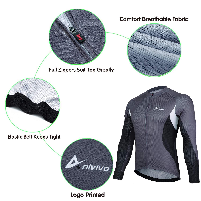 Men/'s Bike Jersey Full Zipper Cycling Shirts with Pockets Biking Jersey/&Road Bicycle Jersey Cycling Jersey Mens Long Sleeve