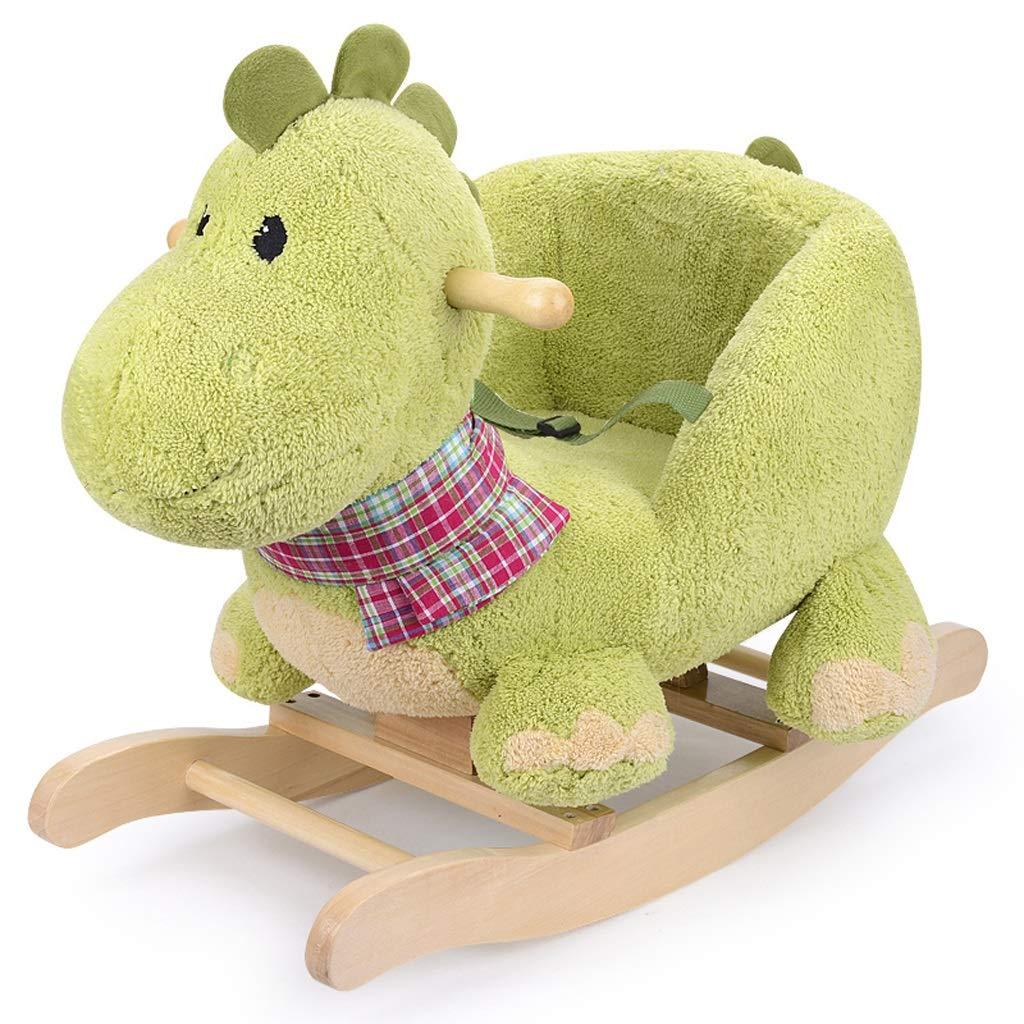 ロッキング馬 ライティング トロイの馬 おもちゃ 赤ちゃん 恐竜 ロッキングチェア 年齢 ギフト ベビーロッキングクレードル   B07L2Q2RL4