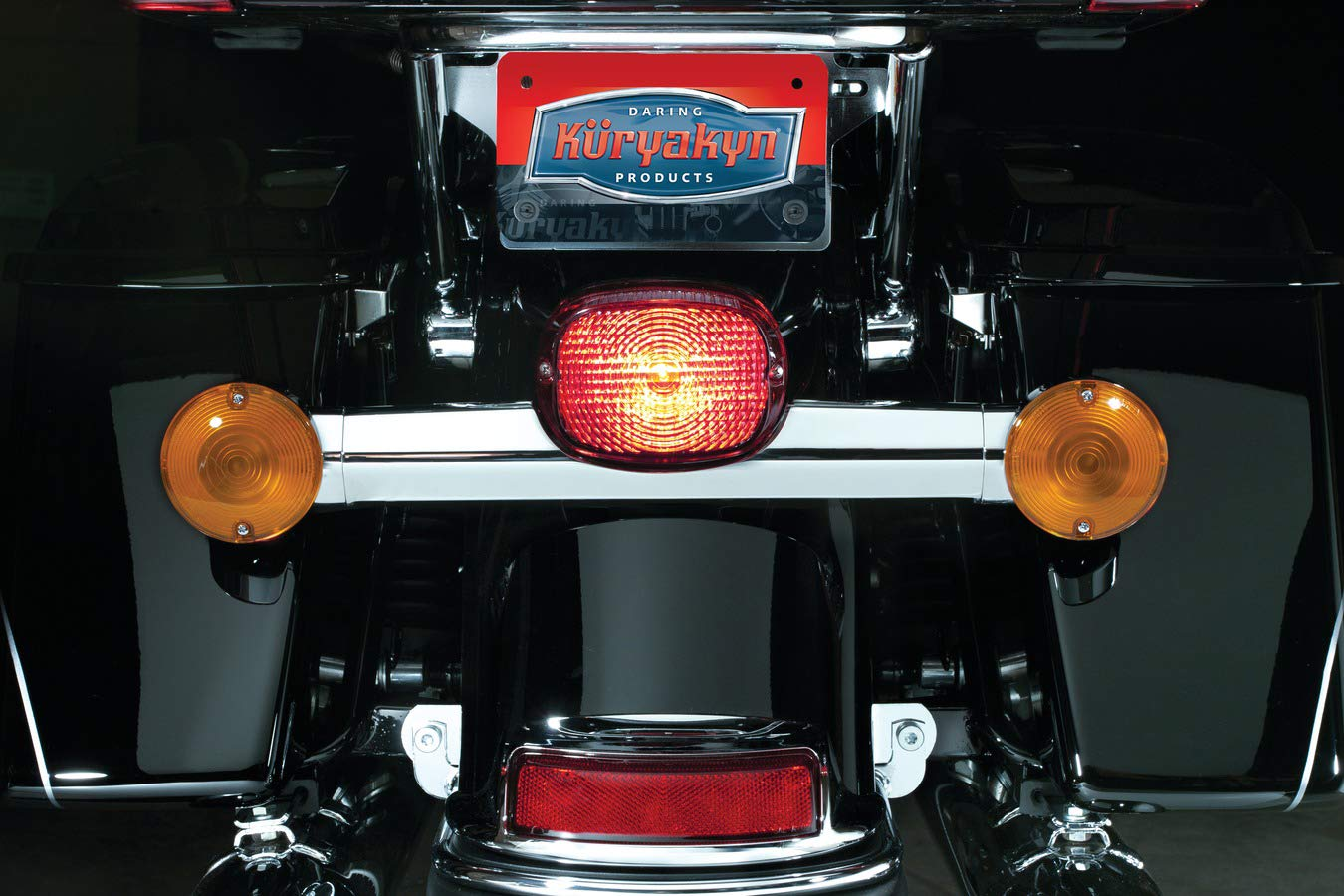 Kuryakyn 5422 Motorcycle Lighting: Deluxe Panacea LED Taillight with License Plate Illumination Light for 1994-2013 Harley-Davidson Motorcycles, Smoke Lens by Kuryakyn