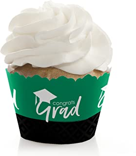 product image for Green Grad - Best is Yet to Come - Green Graduation Party Decorations - Party Cupcake Wrappers - Set of 12