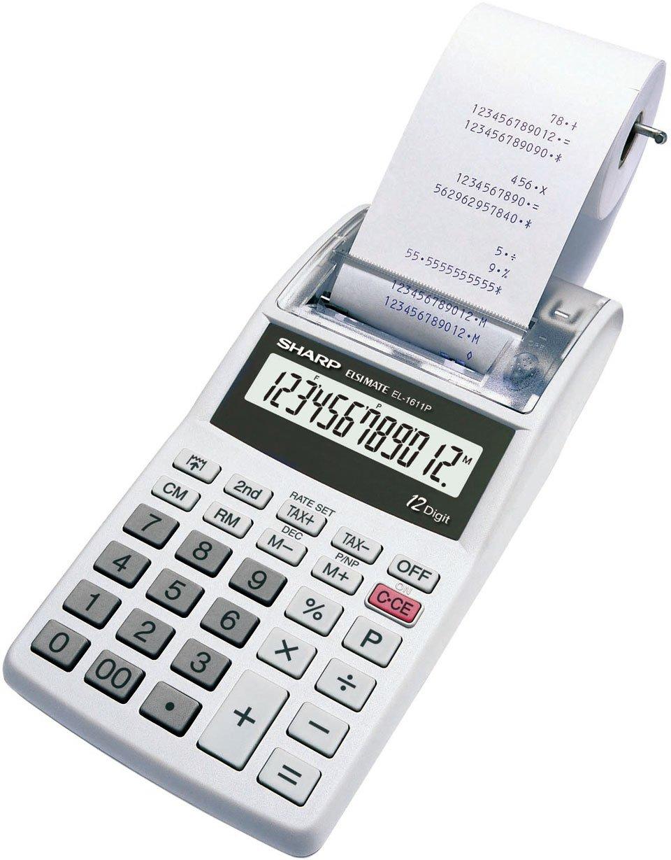 Sharp EL 1611 PGYA Calcolatrice Miniscrivente, Grigio Chiaro EL1611PGYA Calcolatrici Calcolatriciscriventi