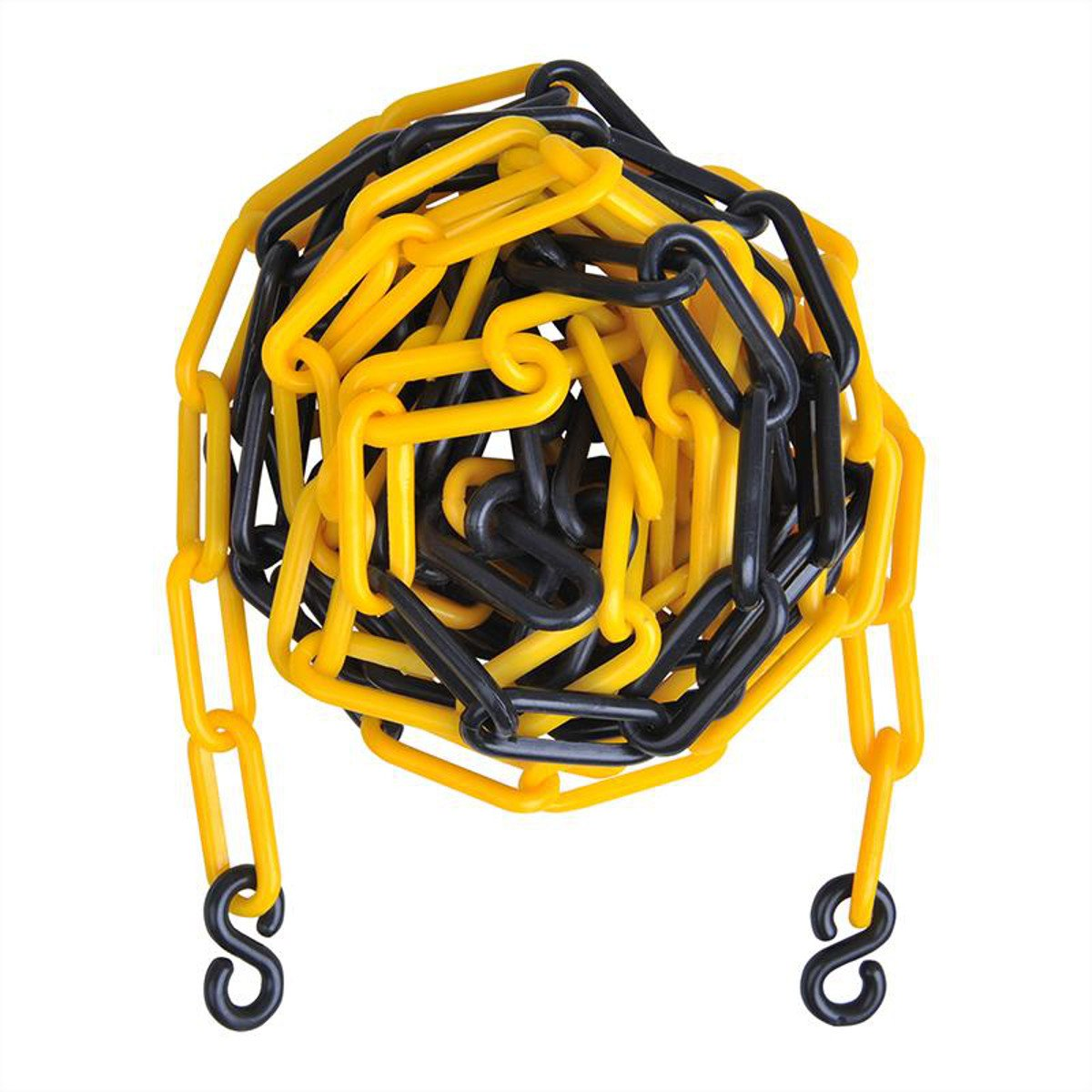 Barrier Tape 5 Metres Diameter 5.5 mm Parking Space Barrier Assorted Colours Plastic Chain with Hook, yellow Preiswert&Gut