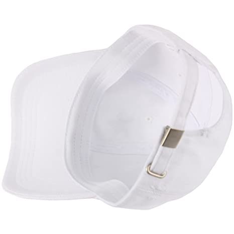 RaOn B294 Silver Star Line Distressed Vintage Denim Ball Cap Baseball Hat  Truckers (White) at Amazon Men s Clothing store  ecec148cc2fb