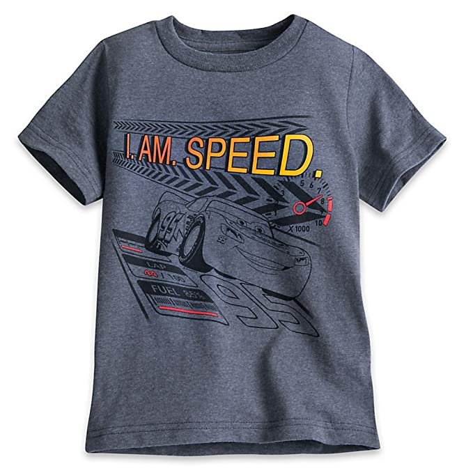 Amazon.com  Disney Lightning McQueen T-Shirt for Boys Gray  Clothing 4c5b4b9f0
