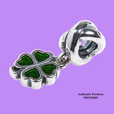 30fce9247 Image Unavailable. Image not available for. Color: Pandora 790572en25 Green  Four Leaf Clover Charm
