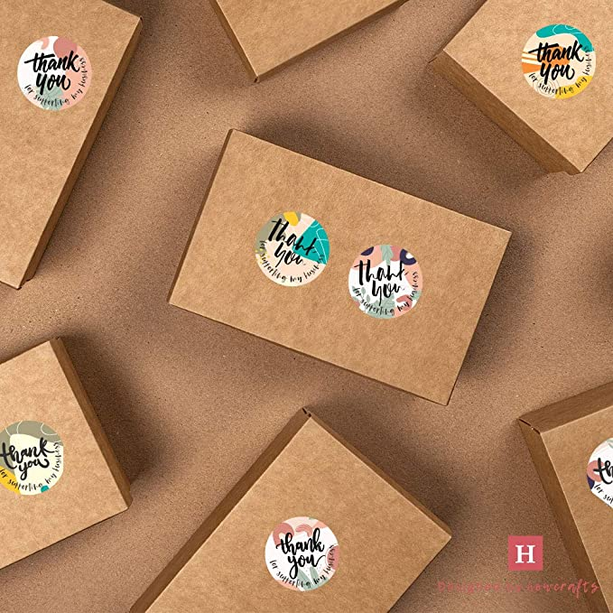 Packaging Stickers for Poly Mailer Gracias Stickers for Small Business Round Thank You Labels Howcrafts Thank You Stickers Roll of 500 Poshmark Supplies Abstract Posse 1.5 in 8 Designs