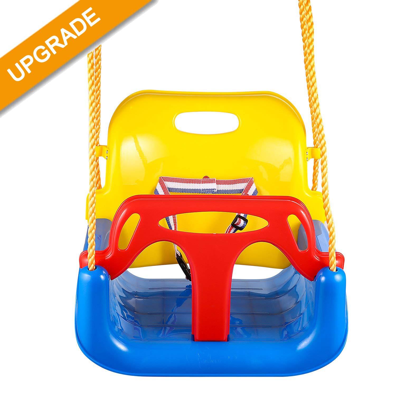 Jaketen 3-in-1 Toddler Swing Seat Hanging Swing Set for Playground Swing Set,Infants to Teens Swing (Blue) by Jaketen