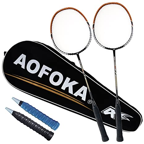 L.E.D STEP 2 Player Badminton Rackets Sets Racket Combo Set Double 1  Carrying Bag Included beee154cac480