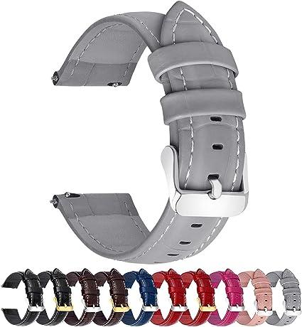 18MM 20MM 22MM 24mm Bracelet Montre Cuir Pour Homme