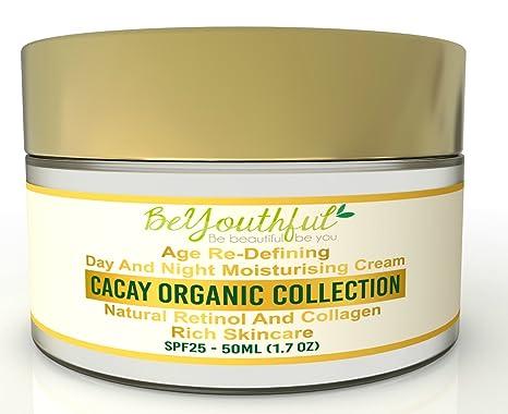 Crema facial hidratante día y noche BeYouthful, para todo tipo de piel, con
