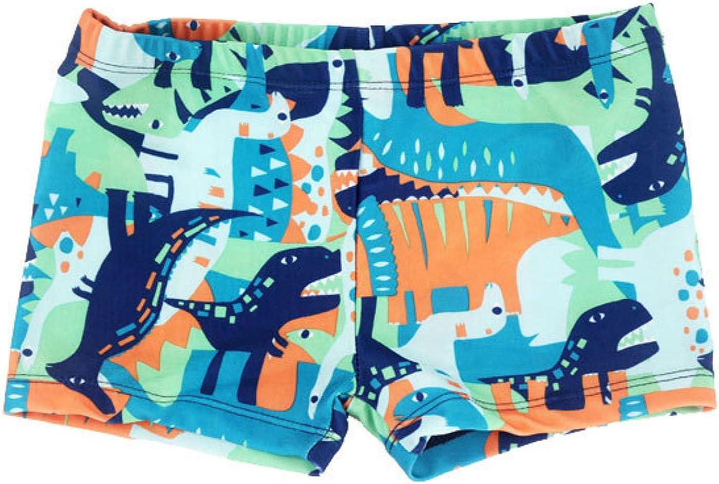 Happy Cherry Baby Boys Swimming Trunks Cartoon Animal Design Swimwear Short Pants