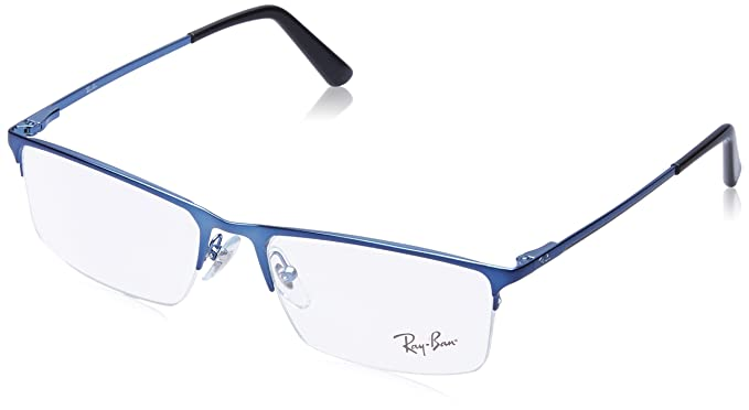 Ray-Ban Half Rim Square Men\'s Spectacle Frame - (0RX6391II292855|55 ...