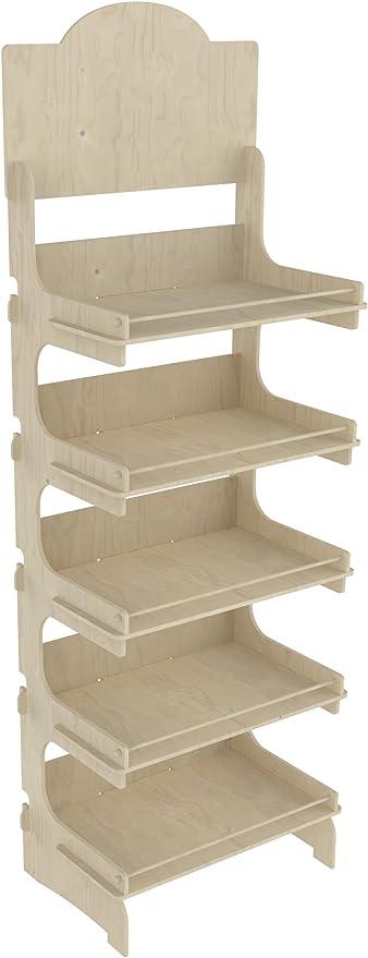 Cemab Europa - Expositor de madera, 5 pisos, 53 cm, montaje empotrado: Amazon.es: Hogar