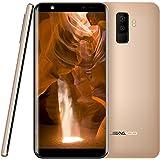 Smartphone 3G,Leagoo M9,Cellulari in Offerta,5.5'' schermo,Quad-core 1.3GHz,Quattro fotocamera(F: 5MP + 2MP, P: 8MP + 2MP),2G RAM + 16G ROM,fingerprint ID,2850mAh,Android 7.0 telefoni (oro)