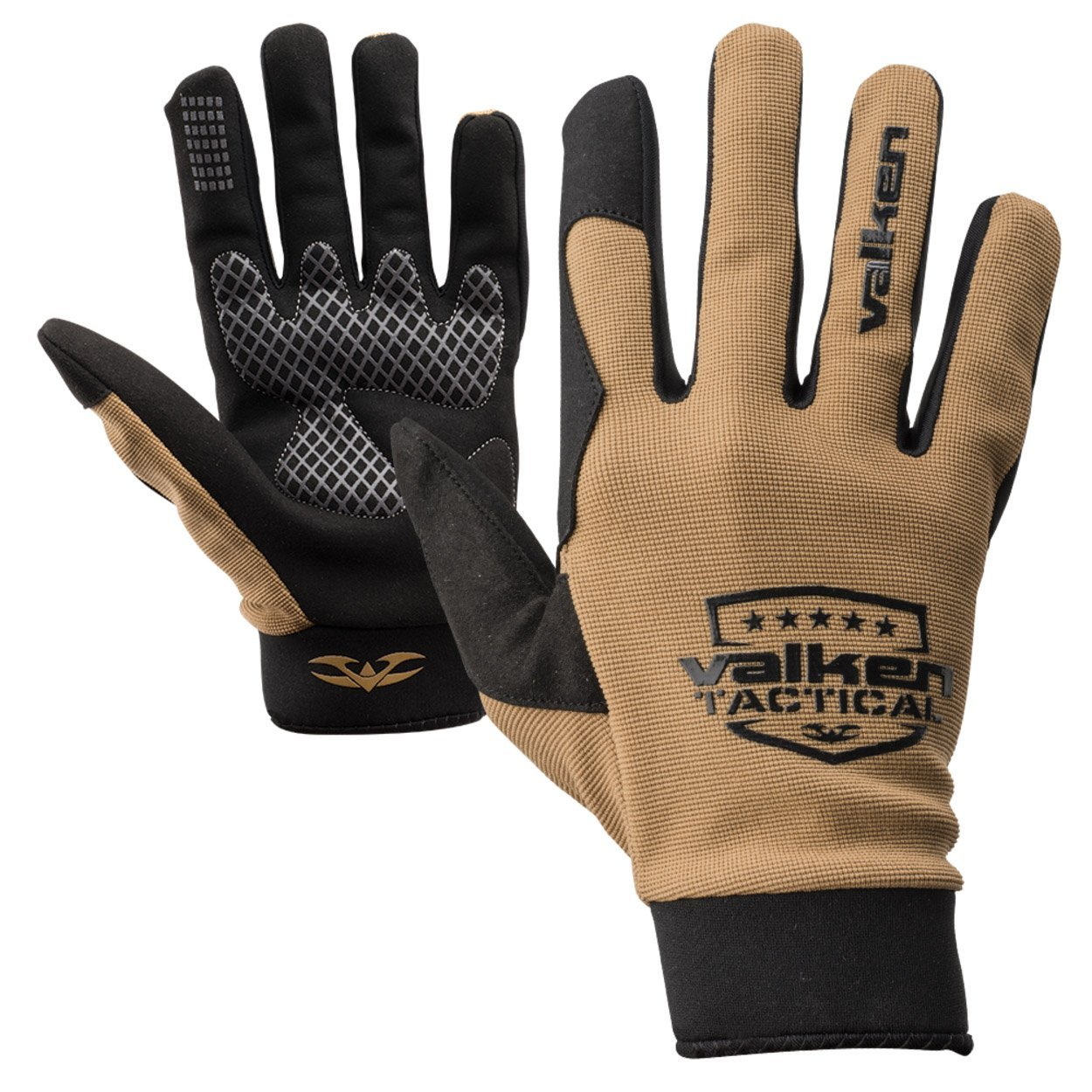 Valken Airsoft Sierra II Gloves Coyote Tan Leather Palm