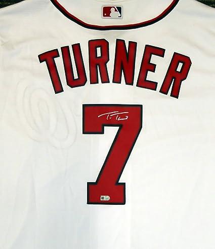 finest selection b06e6 0f8d7 Washington Nationals Trea Turner Autographed White Majestic ...