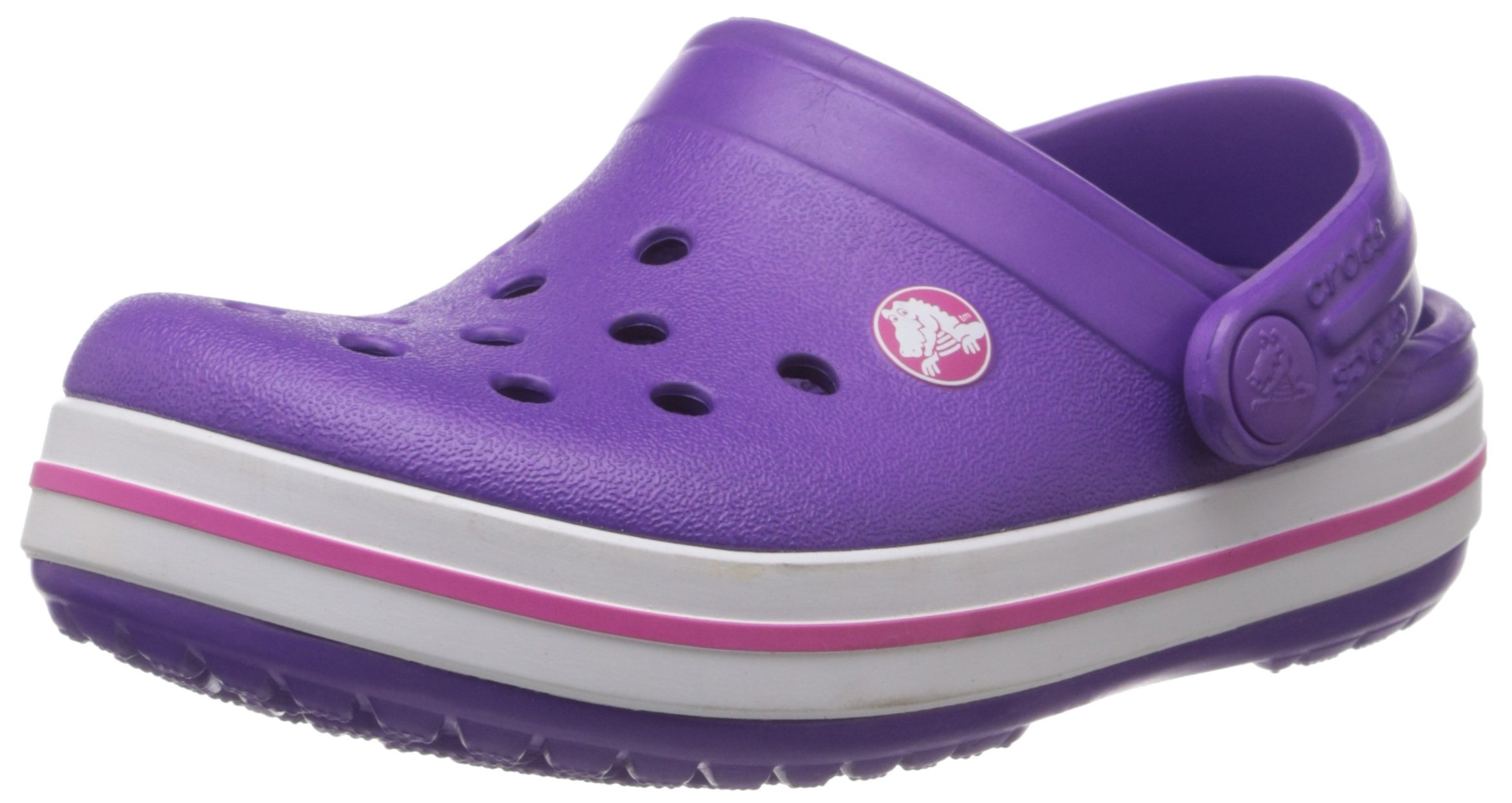 Crocs Crocband Kids Clog (Toddler/Little Kid), Neon Purple/Neon Magenta, 1 M US Little Kid by Crocs