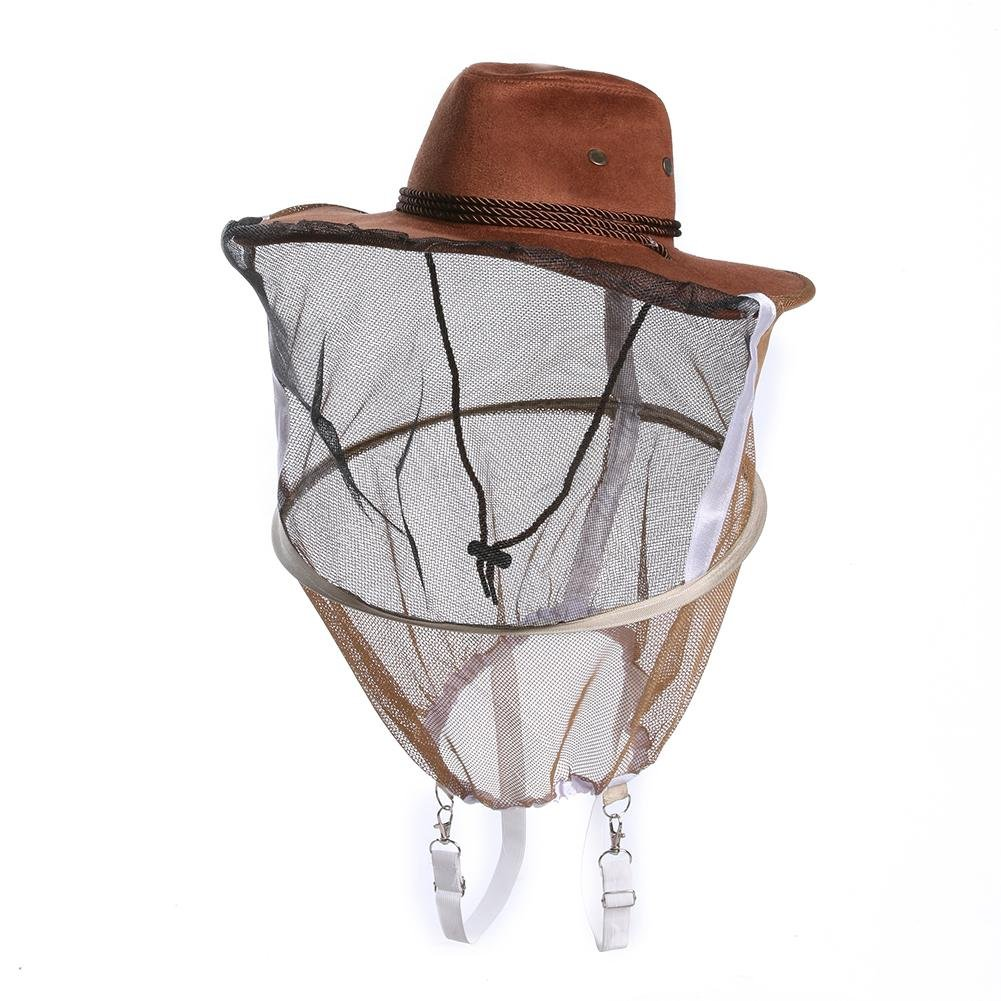Tuankay Beekeeping Beekeeper Cowboy Hat Mosquito Bee Insect Net Veil Face Protector