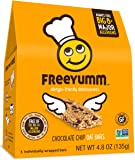 Gluten Free Nut Free Granola Bars, FreeYumm Chocolate Chip Oat Bars, School Safe Allergen Free Snacks, 15 Count