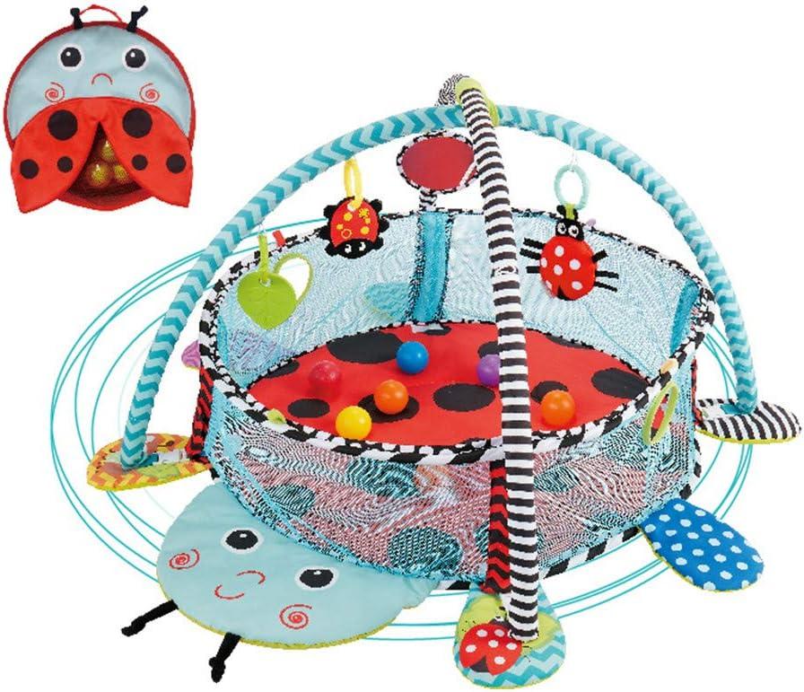 ZJJ Alfombrillas de bebé multifunción para recién Nacidos, Piscina para niños Ocean Ball con 4 Divertidos Juguetes Colgantes para bebés y niñas,A