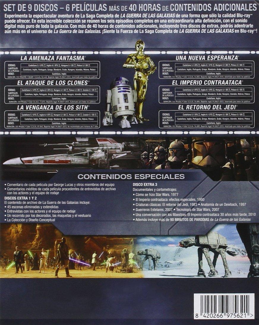 Saga completa Star Wars Blu-Ray por solo 60,74€