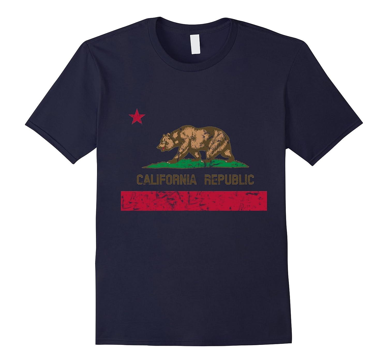 Vintage California Republic Flag T-shirt Distressed-BN
