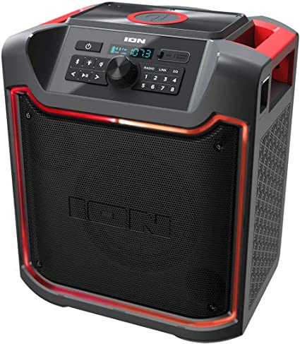ION Pathfinder 8 Bluetooth Portable Speaker with Wireless Qi Charging