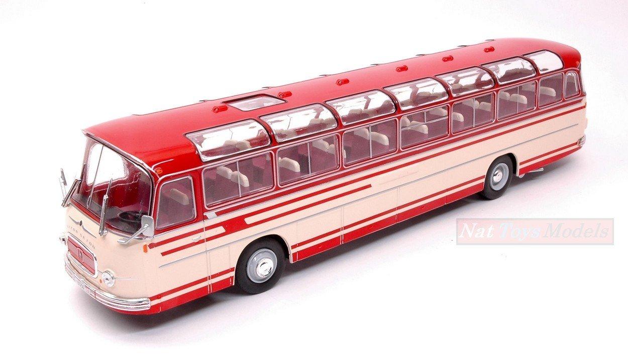 Setra s14 autobús 1966 beige rojo coche modelo 1:43 Ixo Models