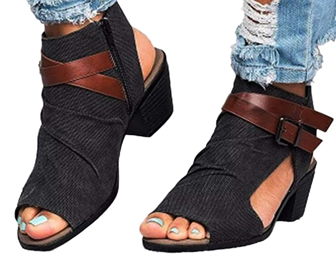 9f935b17315f6 Amazon.com: Fainosmny Womens Shoes Wedges Sandals Zipper Ankle ...