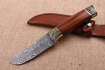 CHENPK04604 Cabeza de acero de latón tallado y palo de rosa ...