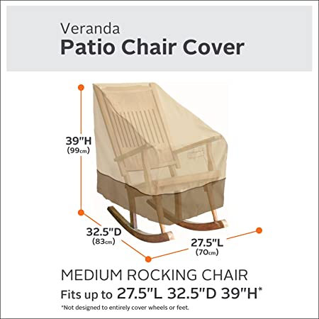 Merveilleux Amazon.com : Classic Accessories Veranda Patio Rocking Chair Cover    Durable And Water Resistant Outdoor Furniture Cover, Medium (70952) : Patio  Chair ...