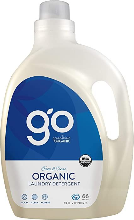 GO by greenshield organic, USDA Certified Organic 100 oz. Laundry Detergent- Free & Clear