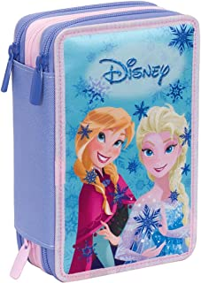 Astuccio 3 Zip Disney , FROZEN MAGIC LIGHTS , Blu , Con CONTENUTO: matite, pennarelli ... Invicta 3B5011803-300
