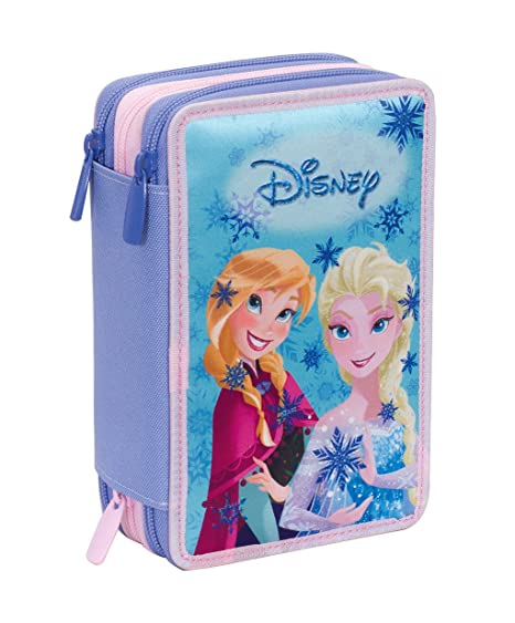 Estuche 3 Cremalleras Disney , Frozen Magic Lights , Azul ...