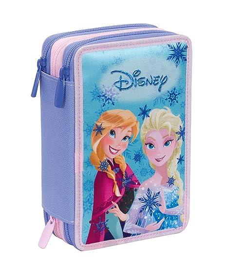 Estuche 3 Cremalleras Disney , Frozen Magic Lights , Azul ...