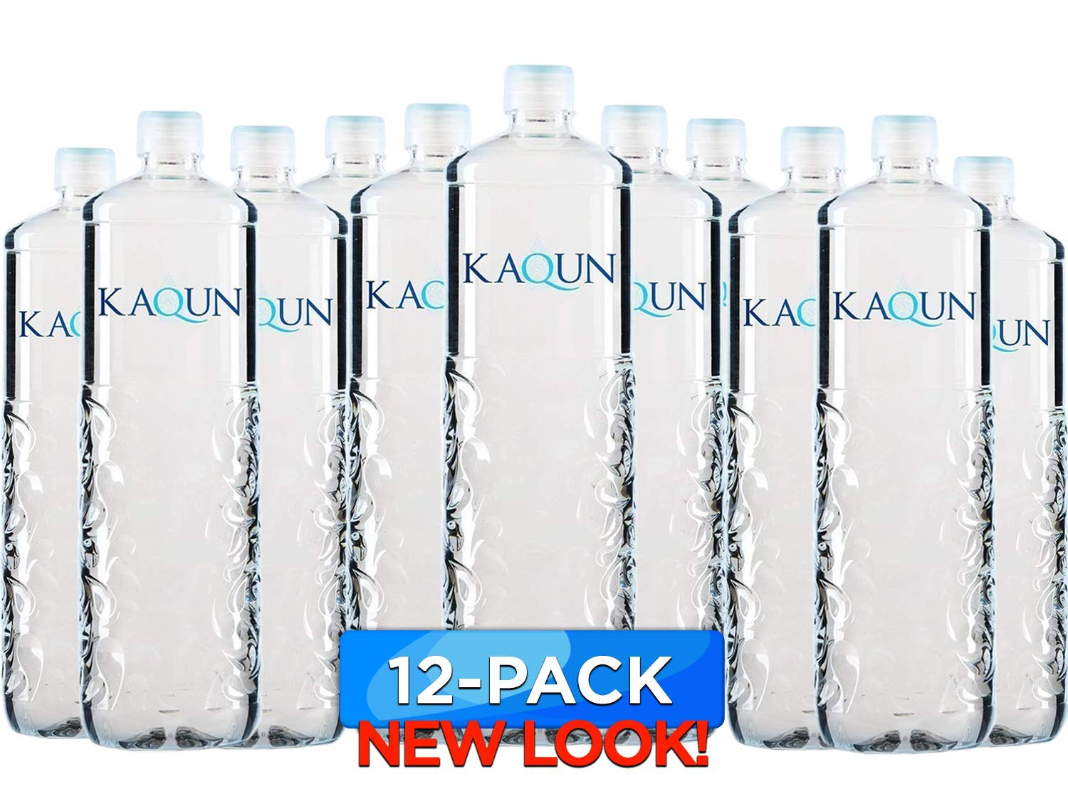 KAQUN Water 12-Pack, Oxygenated & Refreshing, Oxygen Infused Bottled Drinking Water, Chemical Free, Detox, for Kaqun Therapy, Authorized Retailer by BodyHealth