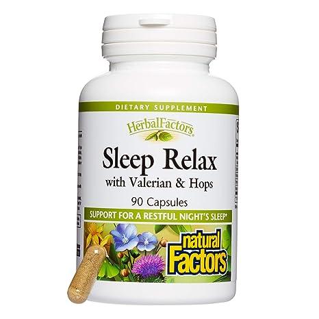 Sueño Relax, con valeriana y lúpulo, 90 Cápsulas - Factores Naturales