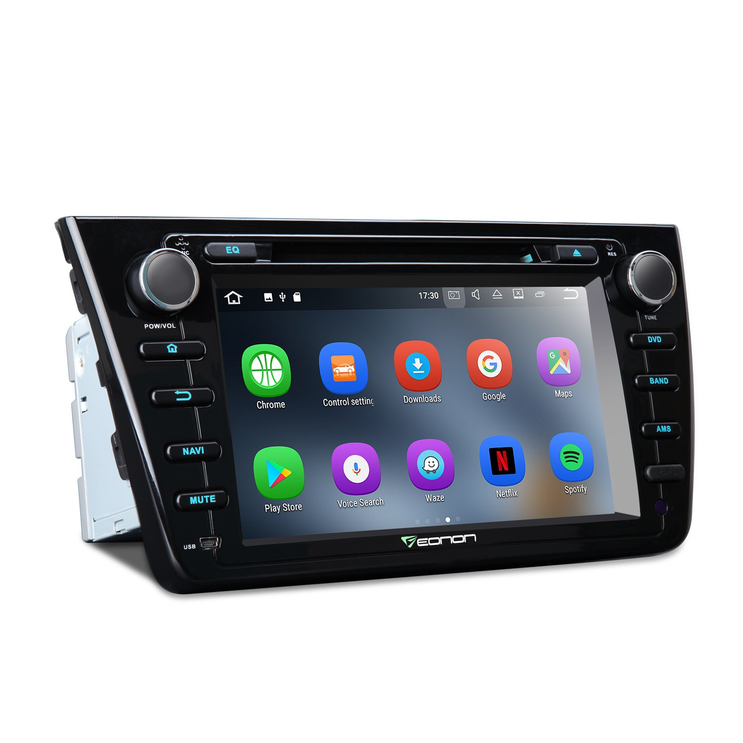 Eonon GA8198 Car Audio Stereo Radio for Mazda 6 2009,2010,2011 and 2012 Android 7.1, 8 Inch Quad Core 16GB+2GB Car GPS Navigation In Dash Touch Screen with Bluetooth MirrorLink, AUX,