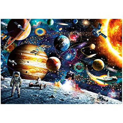 Jigsaw Puzzles, 1000 Piece Floor Puzzles for Adults Intellectual Game Learning Educational Decompression Toys for Adults Kids - Space Fantacy: Toys & Games