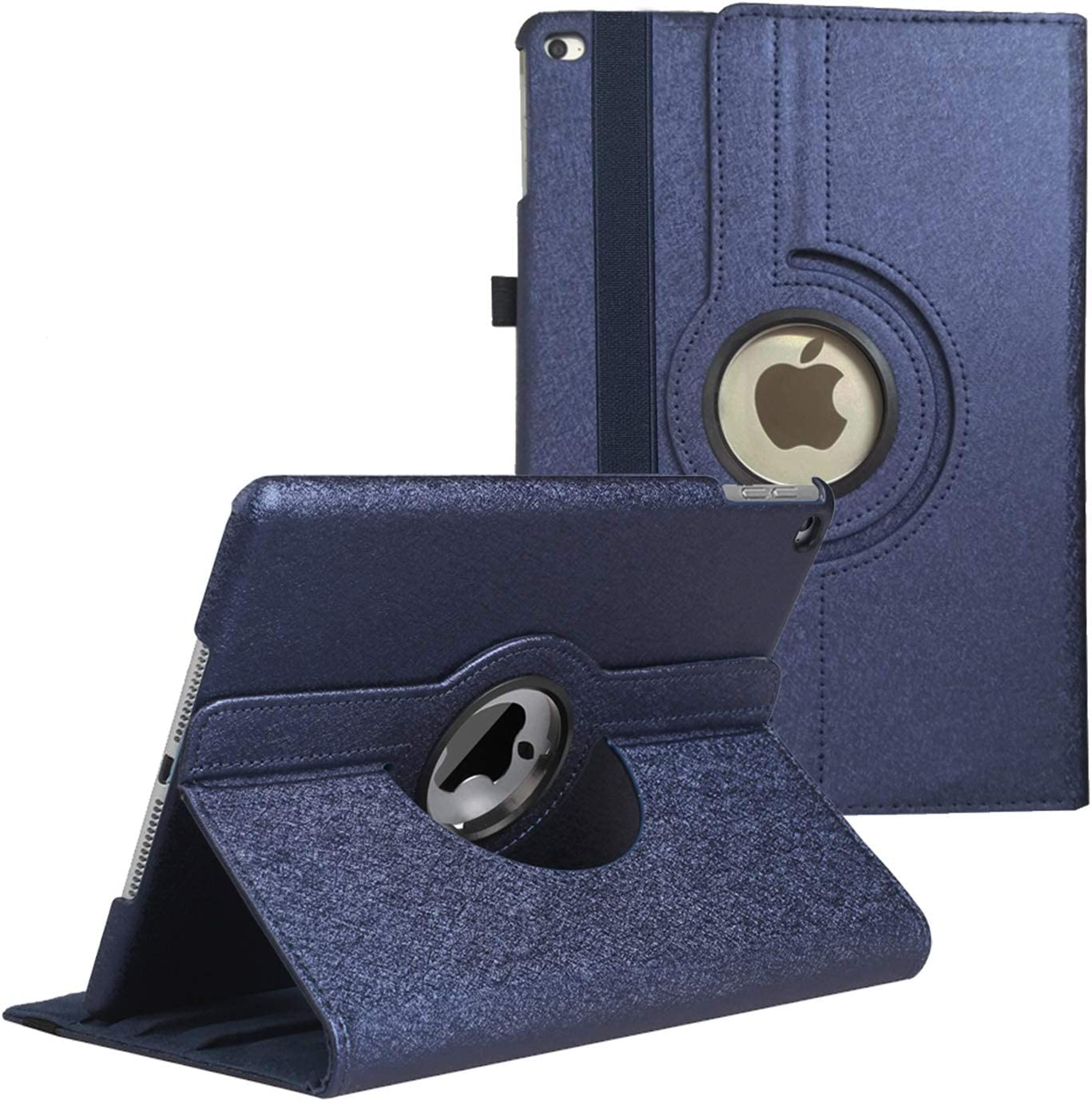 iPad 9.7 inch Case 2018 2017/ iPad Air Case - 360 Degree Rotating Stand Protective Cover Smart Case with Auto Sleep/Wake for Apple iPad 5th/6th Generation (Dark Blue)
